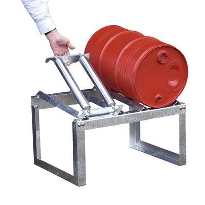 Bauer Rollenauflage, verzinkt, für 1 x 60 L Fass, BxLxH 487x295x77 mm