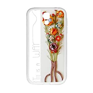 Colorful Flower Custom Case for SamSung Galaxy S4 I9500 (Laser Technology)