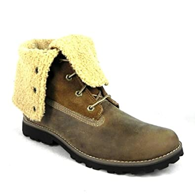 Timberland 18901 Junior Timberland Authentics 6 Inch Faux Shearling Boots, Grey, 4 UK