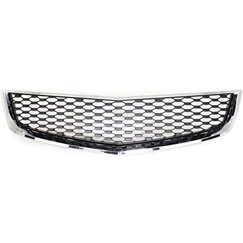 Grille For 2010-2015 Chevrolet Equinox Lower Chrome Shell w/Black Insert ()