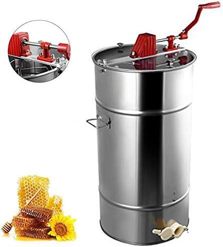 手動蜂蜜抽出器ステンレス鋼透明カバー防塵、プロ養蜂機器