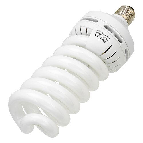 Fotodiox 70W Daylight Compact Fluorescent Light Bulb (CFL), Full Spectrum Daylight (White)