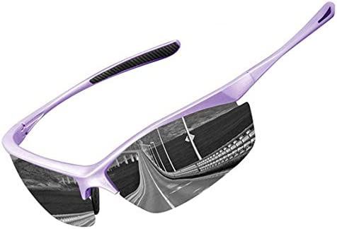 IALUKU Sports Polarized Sunglasses Mens Womens Cycling Photochromic Frame Glasses