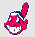 "MLB Cleveland Indians 93867010 Perfect Cut Color Decal, 4"" x 4"", Black"