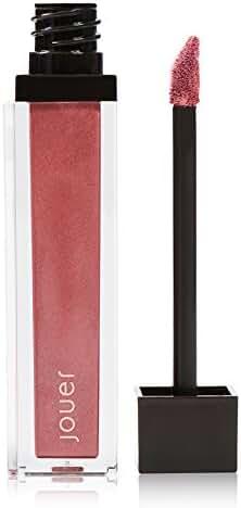 Jouer Long-wear Lip Crème, Bronze-Metallic Cool Deep Rose, Vanilla Macaron, 0.21 fl oz