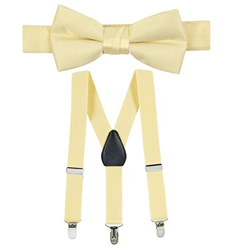 - Hold'Em Suspender and Bow Tie Set for Kids, Boys, and Baby -Banana 26
