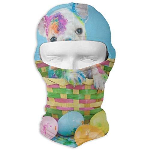 YIXKC Balaclava French Bulldog Easter Egg Cool Windproof Ski Mask for Women Snowboarding