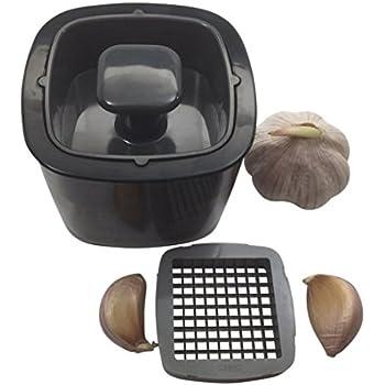 JJMG NEW Garlic Press Dicer Mincer Slicer Cutter Stainless Steel Kitchen Tools Utensils Soft-Handled Crush Garlic Cloves Ginger Leaving NO ODOR In Your Hands