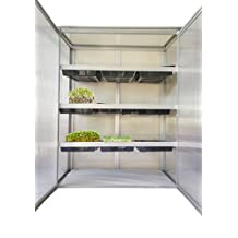 Mini greenhouse + tray lids - patio, balcony, apartment - grow microgreens, herbs small plants