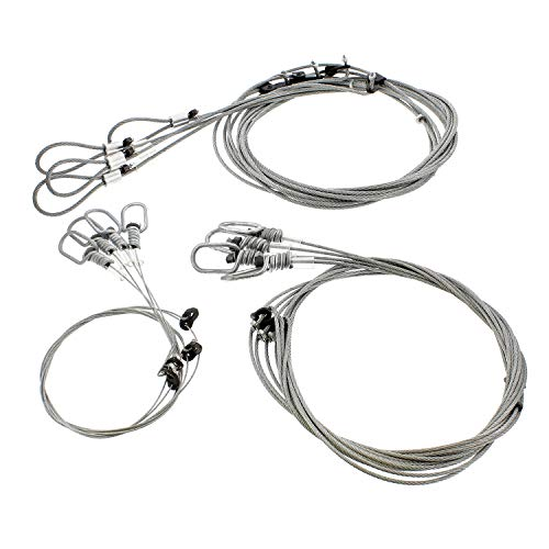 Redneck Convent Survival Snares Trapping Supplies - 12 Pack Snare Trap Wire Animal Snare Traps Small Game Snares to Large Game Traps