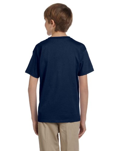 Fruit of the Loom Youth 5.6 oz. Heavy Cotton T-Shirt, Navy, Small