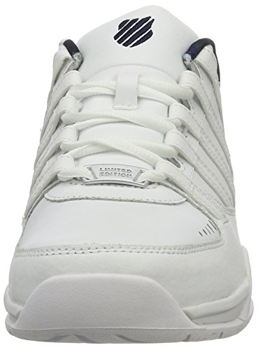K-swiss Herren Baxter Low-top Weiß (bianco / Bianco / Blu Scuro 173)