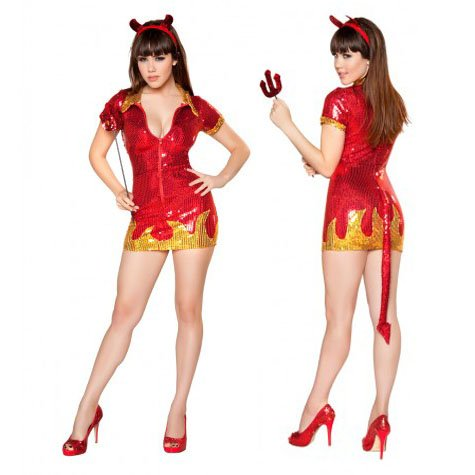 Hot Devil Babe Costumes (Hot Devil Babe Adult Costume - Small/Medium)