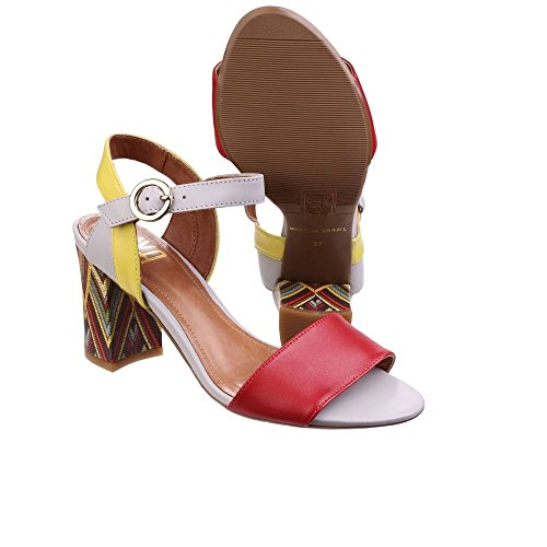 Riva - Sandalias de vestir de Piel para mujer Red