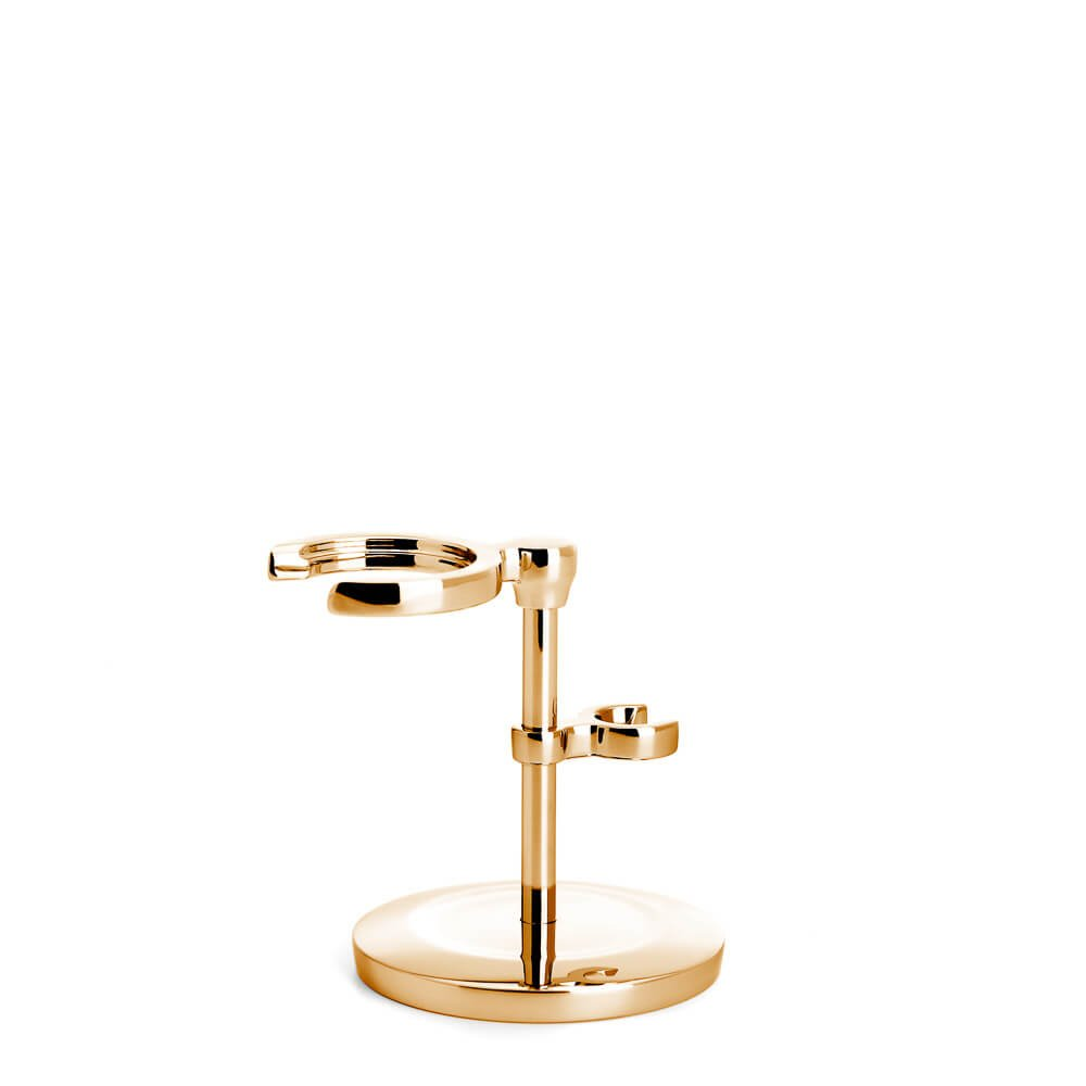 LIMITED EDITION: MUHLE Traditional Shaving Set Stand – Gold Plated (Gold)
