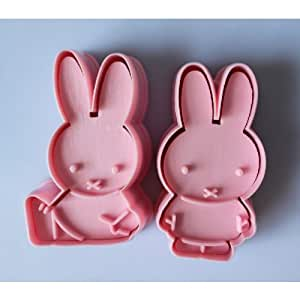 2pcs Miffy cookie cutter Fondant Cake sugarcraft crafts mold modelling tool new