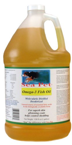 "Sea Pet Omega-3 Fish Oil ""200"" with Natural Vit E (1 Gal), My Pet Supplies"
