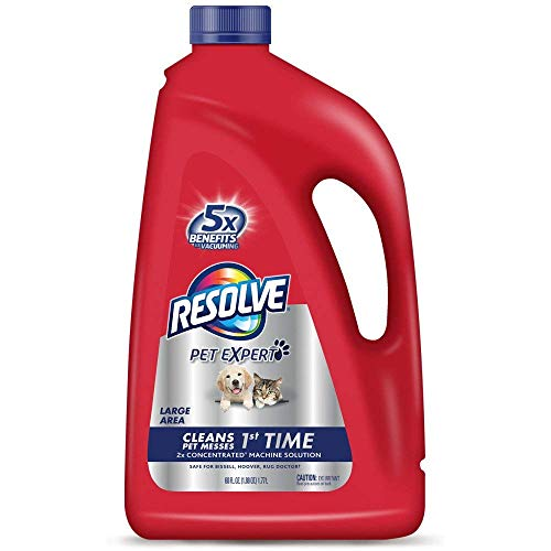 Resolve Pet Carpet Steam Cleaner Solution, 60 fl oz Bottle, 2X Concentrate