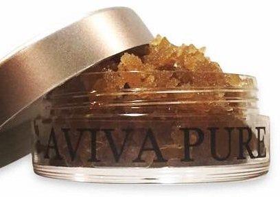 Aviva Pure - Natural, Organic, Brown Sugar Cinnamon Lip Scrub with Supreme Coconut Oil for Dry Lips (20ml)
