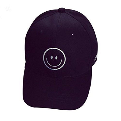 Men Funny Womens Cap - BCDshop Hat Funny Emoji Expression Baseball Caps Women Men Snapback Hip Hop Sport Hats (Black)