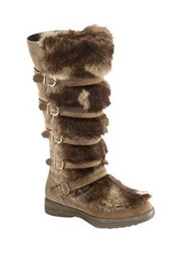 Unbekannt Stiefel - Náuticos de cuero Mujer marrón - Marron - Taupe