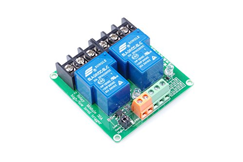 2-Channel Relay Module High / Low Level Triggering Optocoupler Isolation Load 30A DC 30V / AC 250V for PLC Automation Control, Industrial System Control, Arduino (DC 24V)