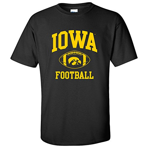 - AS10 - Iowa Hawkeyes Classic Football Arch Mens T-Shirt - 2X-Large - Black