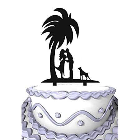 4143GoRW55L._SS450_ The Best Palm Tree Wedding Cake Toppers