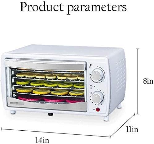 LKNJLL Deshydrateur Machine, 5 bacs en Acier Inoxydable Alimentaire réglable Thermostat déshydrateur de la Viande, Jerky, Fruits, Gâteries for Chiens, Herbes