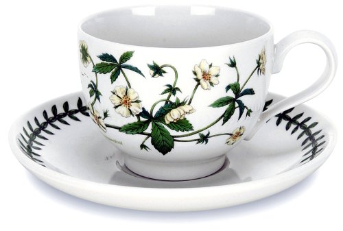 Portmeirion Botanic Garden Tea Cup and Saucer, Set of 6 Assorted Motifs
