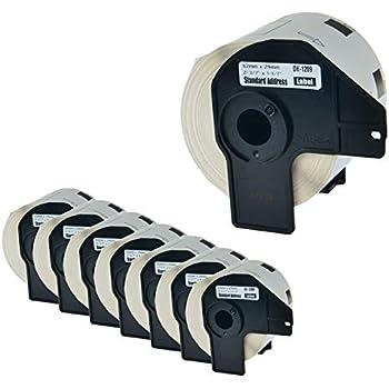 "2Roll DK-1209 1-1//7/"" 29mm Address Labels Frame Compatible for Brother QL-500"