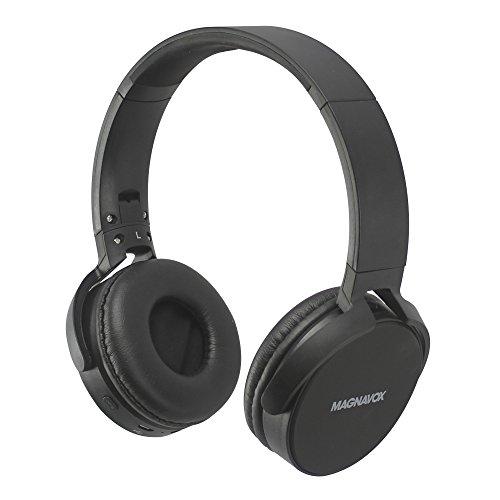 Magnavox MHB542-BK Wireless New DJ Flat Foldable Headphones Black