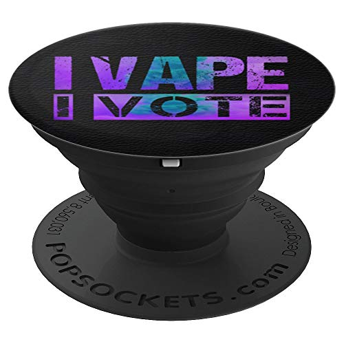 I Vape I Vote Purple Teal Adults Like Flavors Vaping Ban PopSockets Grip and Stand for Phones and Tablets (Best Vape Mod For Clouds And Flavor)