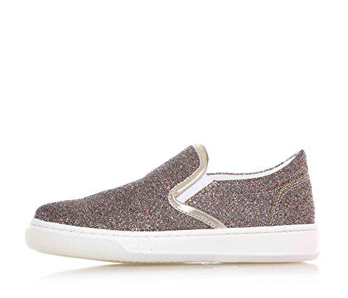 SAUSALITA - Chaussure multicolore sans lacets en paillettes, inserts latérales élastiques, fille, filles, enfant
