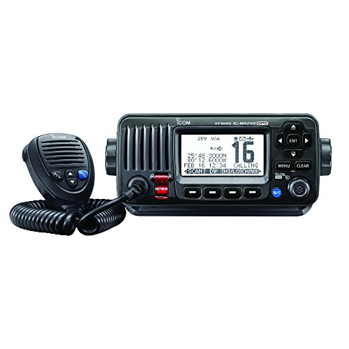 ICOM IC-M424G 21 Compact Marine VHF Radio, with Hailer, in Black