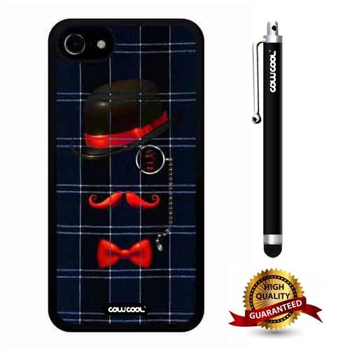 iphone 8 Case, iphone 7 Case, Gentleman Case, Cowcool Ultra Thin Soft Silicone Case for Apple iphone 7 8 - Blue Plaid Courtesy Eyes - Plaid Horseshoe