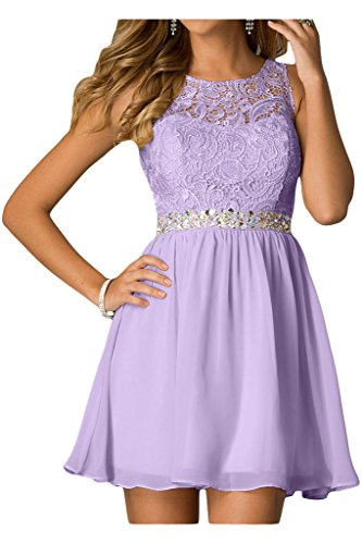 Ivydressing Damen Cocktailkleid Steine Chiffon Liebling amp;Spitze Linie Lila Abendkleid A Partykleid Brautjungfernkleider rr0xd7q