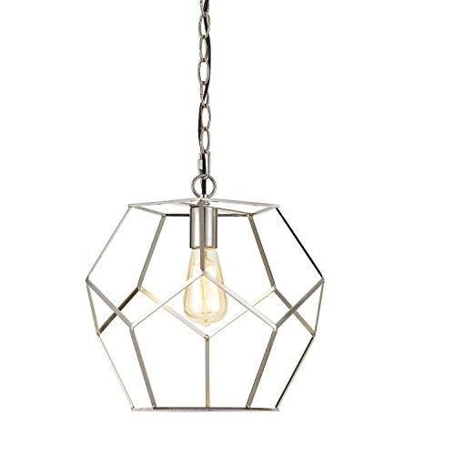 AF Lighting 9134-1P Brushed Nickel Bellini One-Light Pendant