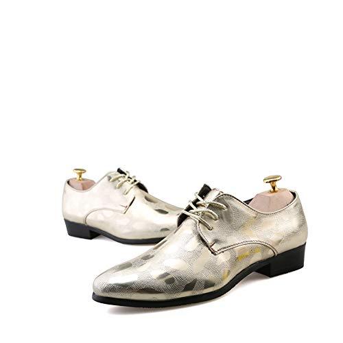 Rilievo Scarpe Gold da in Oxford Cricket Scarpe Formale Uomo Britannico Nuovo Casual da Stile Stile pc468WYqpn