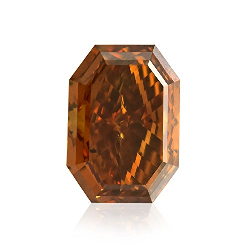 2.11Cts Fancy Deep Brown Orange Loose Diamond Natural Color Radiant Cut GIA (I1 Radiant Loose Diamonds)