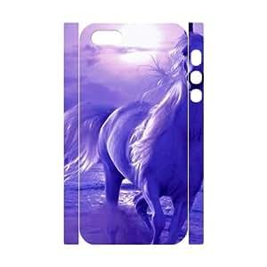 Iphone 5,5S The Horse 3D Art Print Design Phone Back Case Custom Hard Shell Protection DF011728