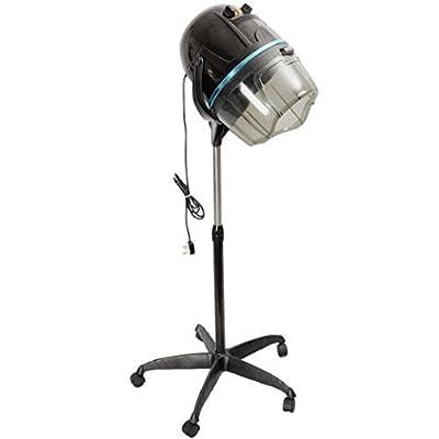 Zeny Adjustable Hooded Floor Bonnet Hair Dryer w/Stand Up Rolling Base Wheels Salon Spa Beauty Equipment