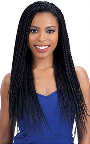 ATOZWIG Hot Popular Heat Resistant Synthetic Hair Braiding Wig For Black Woman Micro Box Braided Synthetic Hair Lace Front (Braided Hair Wigs)