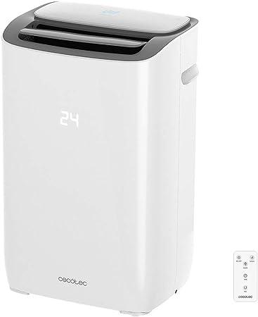 Cecotec Aire Acondicionado Portatil EnergySilence Clima 7150 Smart. 1800 Frigoras, 3 Funciones(Fro, Ventilador, Deshumidificador), Caudal 350 m_/h, Programable 24h ...