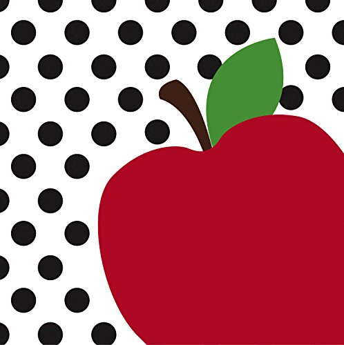 Best Teacher Apple - Teacher's Apple Paper Luncheon Napkin Set of 20-7 x 7 Inches