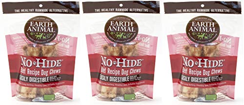 (3 Packages) Earth Animal No-Hide Beef Chews 4