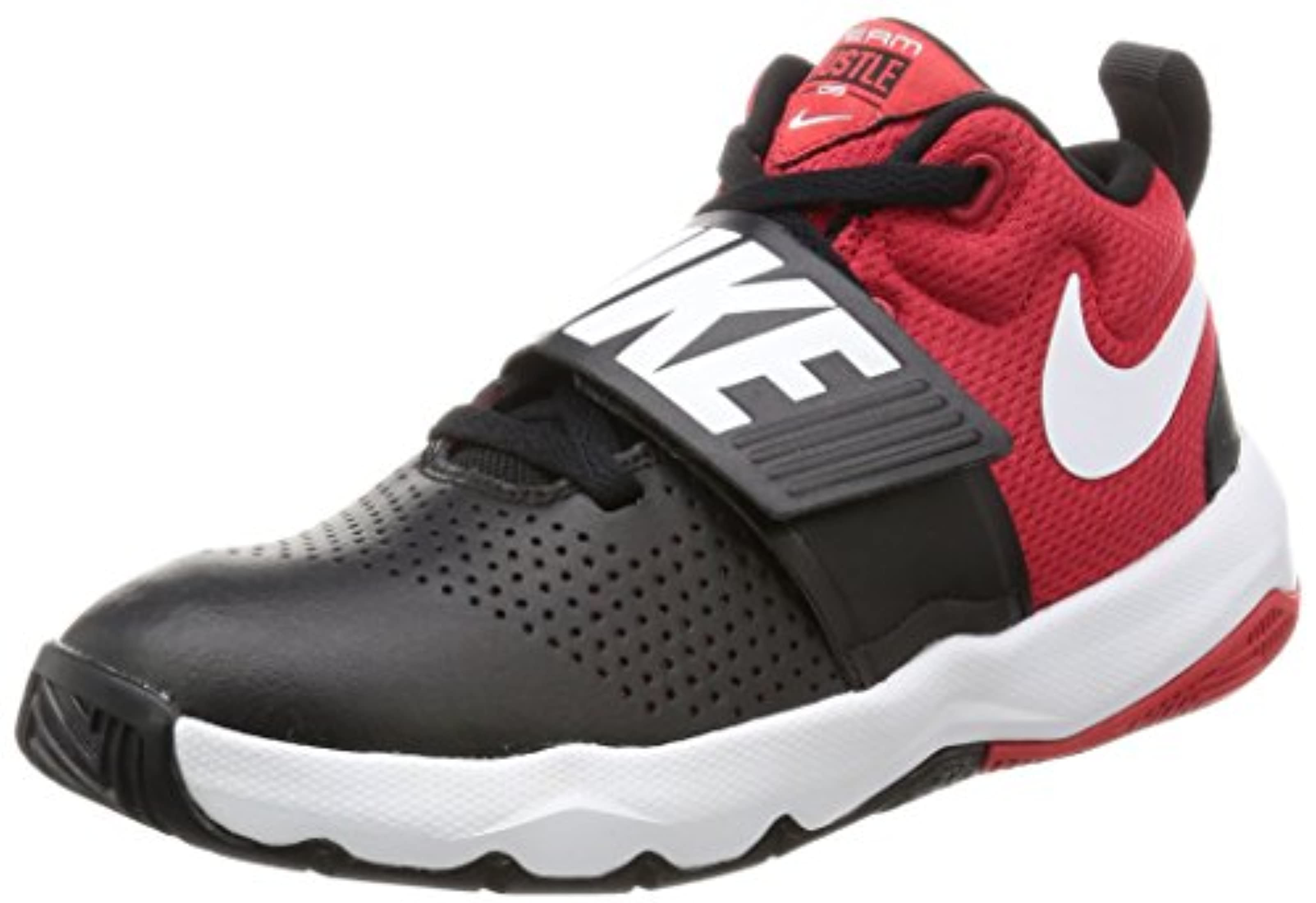 ac1d5e1bfec Nike Team Hustle D 8 (GS) Sneaker Black White - University red 4.5Y ...