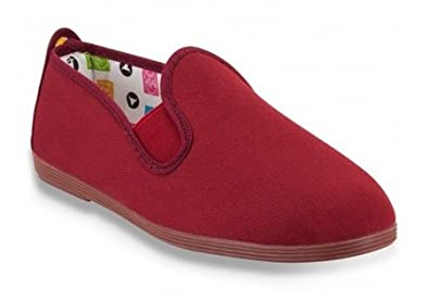 Flossy Shoes Arnedo Women's plimsolls pumps canvas trainers authentic  flossys Maroon/Burgundy EU 41