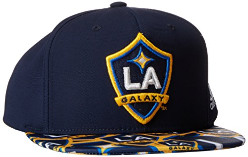 MLS Los Angeles Galaxy Adult Men MLS SP17 Fan Wear Script Logo Flat Brim Snapback,OSFM,Navy (La Galaxy Snapback)