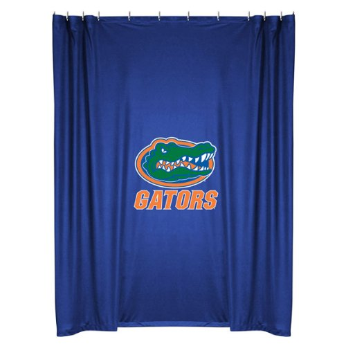 Florida Gators COMBO Shower Curtain, 2 Pc Towel Set & 1 Window Valance/Drape Set (84 inch Drape Length) - Decorate your Bathroom & SAVE ON BUNDLING! by Sports Coverage